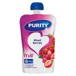 PURITY Pouch Mixed Berries 110ml from 6 Months