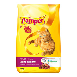 Pamper Gourmet Meat Dry Cat Food 2.9kg