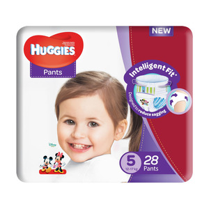 HUGGIES DISPOS PANTS UNISEX SZ 5 2EA