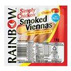 Rainbow Chicken Cheese Viennas 1kg