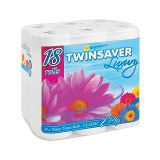 Twinsaver Luxury 2 Ply Toilet Paper 18s x 4