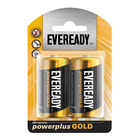 Eveready Batteries Power Plus Gold Size D 2s