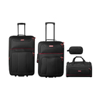 Elite 4 Piece Travel Set Black