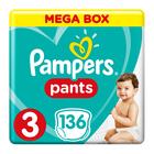 PAMPERS PANTS MEGA BOX SIZE3 136EA