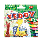 Teddy Wax Crayons 9ea