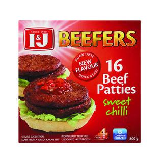 I&j Beefers Beef Burger Swee t Chilli 800 GR