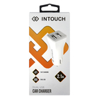 Intouch Dual Car Charger 2.1A White