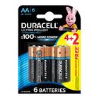 Duracell Alkaline Batteries Ultra Power AA 4+2