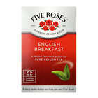 Five Roses English Breakfast Tagless Teabags 50ea