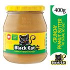 Black Cat Crunchy Peanut Butter No Sugar & Salt 400g