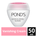 Ponds Lasting Oil Control Vanishing Cream Very Oily 50ml