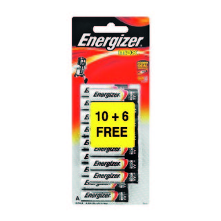 Energizer Battery Max AAA 10 + 6 Free