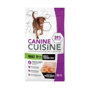 Canine Cuisine Dry Dog Food Adult Chicken and Rice 15kg