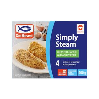 Sea Harvest Simply Steam Garlic Black Pepper 400g