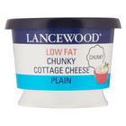 Lancewood Low Fat Chunky Plain Cottage Cheese 250g