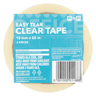 PnP Sticky Tape 12mmx65m 3ea