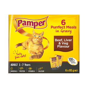 Pamper F/cuts Gravy Beef+lvr+veg 6x85g