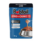 Bobtail Liver Chunks in Gravy Dog Food 85g