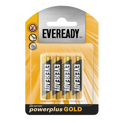 Eveready Powerplus Gold AAA Batteries 4s   each   Unit of