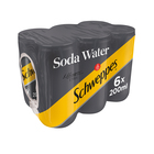 Schweppes Soda Water Can 200ml x 6