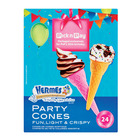 Hermes Coloured Ice Cream Party Cones 24s