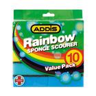 Addis Rainbow Sponge Scourer 10s