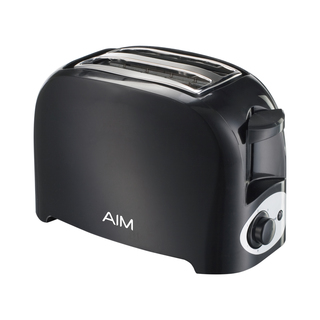 Aim 2 Slice Cool Touch Toaster Black