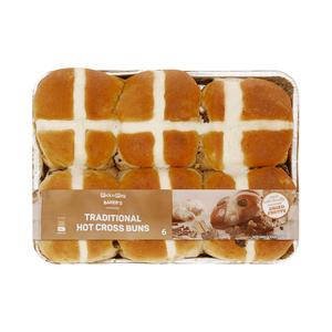 PnP Traditional Hot Cross Bun 6s