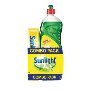 Sunlight Dishwashing Liquid and Laundry Bar Value Pack 750ml + 500g