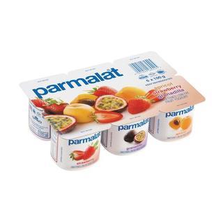 Parmalat Low Fat Apricot Granadilla & Strawberry Yoghurt 6s