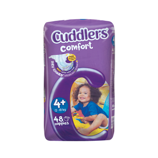 Cuddlers Comfort Diapers Size4 12-18kg 48s