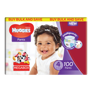 HUGGIES UNISEX MEGABOX SIZE 100EA