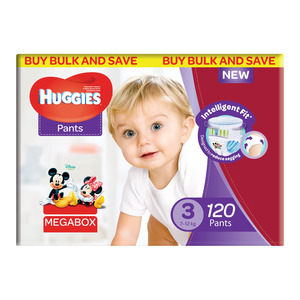 HUGGIES UNISEX MEGABOX SIZE 120EA