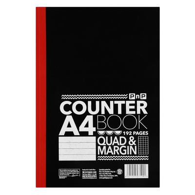 Pnp A4 192 Page Counter Book Each