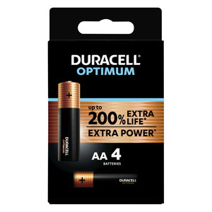 Duracell Optimum AA 4 Pack