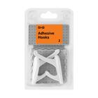 PnP Hooks Plastic Adhesive Double 2ea
