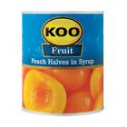 Koo Choice Grade Peach Halves 825g