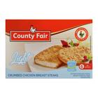 County Fair Light Crumbed Chicken Breast Steaks 400g