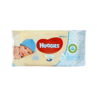 Huggies Baby Wipes Pure 56s