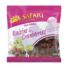 Safari Raisins & Cranberries Sundried 200g