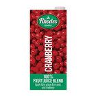 Rhodes 100% Fruit Juice Blend Cranberry 1l x 6