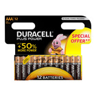 Duracell Alkaline Batteries Plus Power AAA 12s