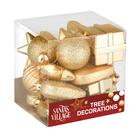 Santa's Village Tree Decoration Gold 18 Piece
