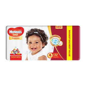 HUGGIES UNISEX GIGA BAG S4 132EA