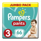 Pampers Baby-Dry Size 3 Jumbo Pack, 66 Nappy Pants