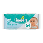 Pampers Fresh Clean Baby Wipes, 64 Wipes