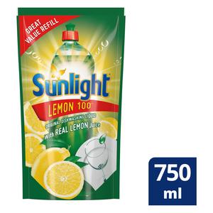 Sunlight Regular Dishwashing Liquid Refill 750ml
