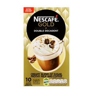Nescafe Gold Double Decadent Cappuccino Sachets 10s