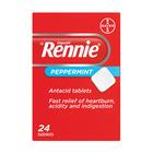 Rennie Peppermint Antacid Tablets 24ea