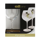O2 Dine Gin Glass 477ml 4 Pack